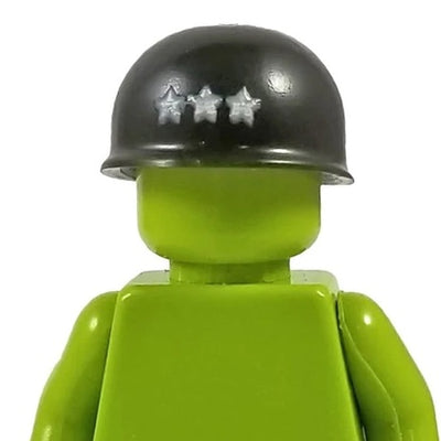 Minifig World War II American 3 Star General Helmet - Headgear