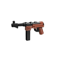 Minifig Colored MP40 - Machine Gun