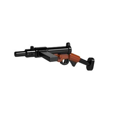 Minifig Colored STEN Gun Mk II - Machine Gun
