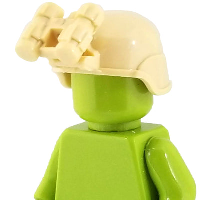 Minifig Ballistic Helmet with NVG - Tan - Headgear