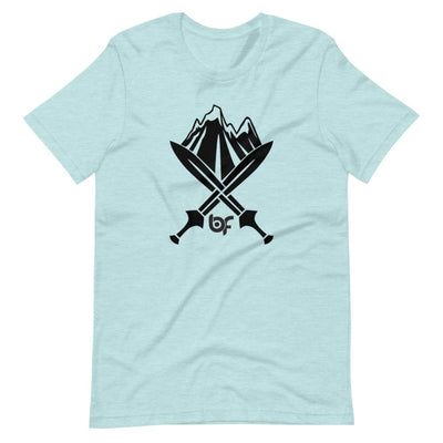 Brick Forces Alpine Unit Short-Sleeve Unisex T-Shirt - Heather Prism Ice Blue / S - Printful Clothing