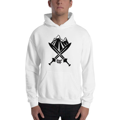 Brick Forces Alpine Unit Unisex Hoodie - White / S - Printful Clothing