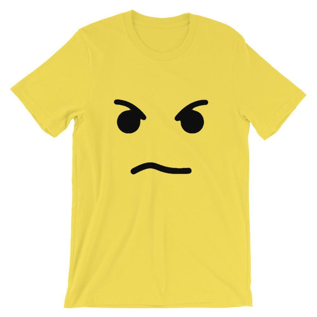 Brick Forces Angry Face Short-Sleeve Unisex T-Shirt - Yellow / S