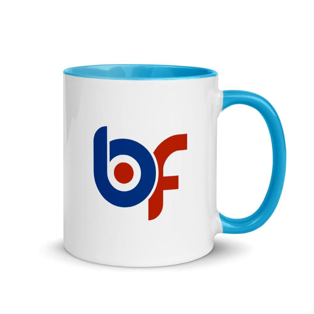 Brick Forces BF Mug with Color Inside - Blue - Printful Clothing