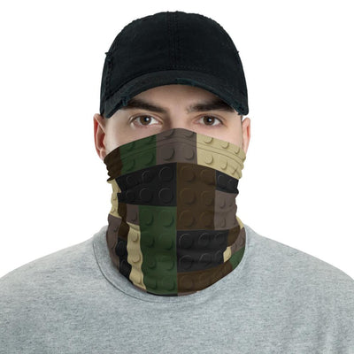 Brick Forces BRICKuflage Woodland Neck Gaiter - Printful Clothing