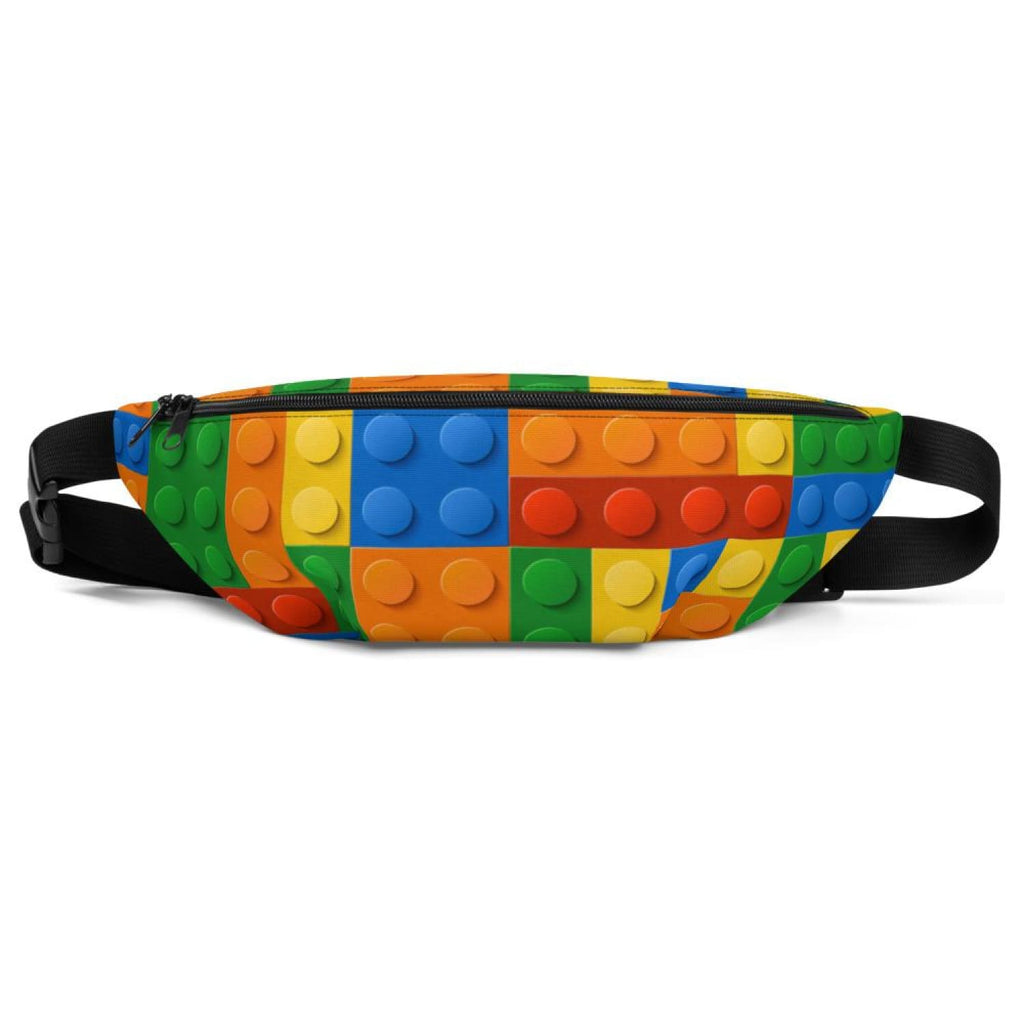 Brick Forces Colored Bricks Fanny Pack - S/M - Printful Clothing