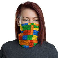 Brick Forces Colorful Brick Neck Gaiter - Printful Clothing