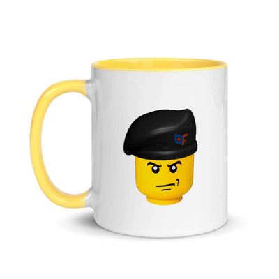 Brick Forces Commando Mug with Color Inside - Yellow - Printful Clothing