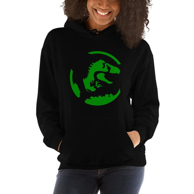 Brick Forces Dinosaur Unisex Hoodie - Black / S - Printful Clothing