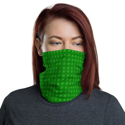 Brick Forces Green Brick Neck Gaiter - Printful Clothing