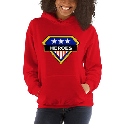 Brick Forces Heroes Unisex Hoodie - Red / S - Printful Clothing