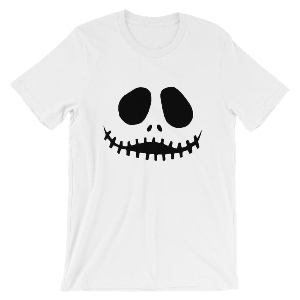 Brick Forces Jack Skellington Face Short-Sleeve Unisex T-Shirt - White / XS