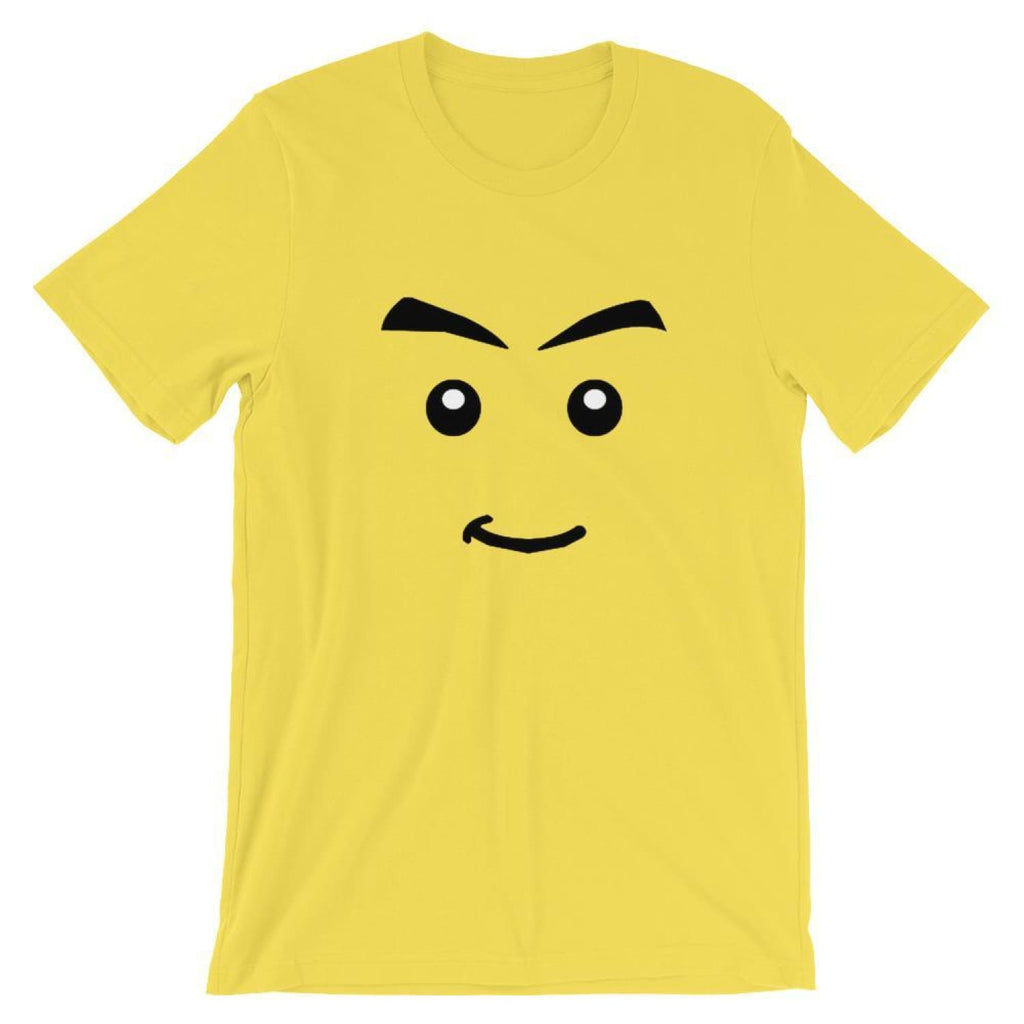 Brick Forces Jamesster Face Short-Sleeve Unisex T-Shirt - Yellow / S