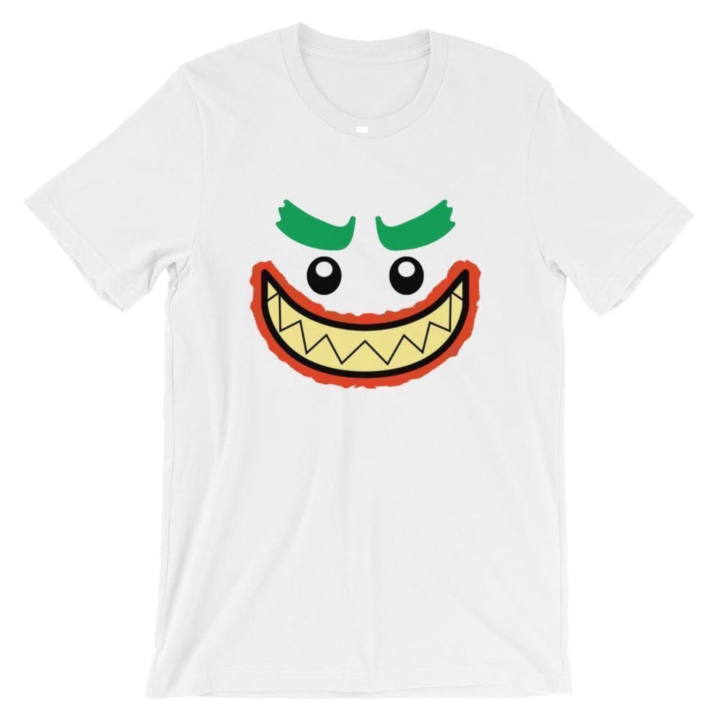 Brick Forces Joker Face Short-Sleeve Unisex T-Shirt - White / XS