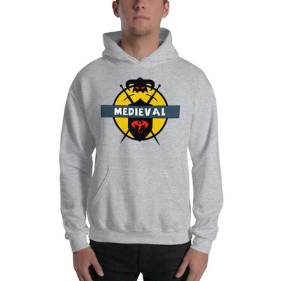 Brick Forces Medieval Unisex Hoodie - Sport Grey / S - Printful Clothing