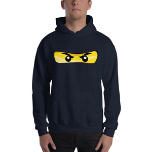 Brick Forces Ninja Eyes Unisex Hoodie - Navy / S - Printful Clothing