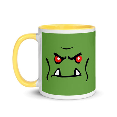 Brick Forces Orc Face Mug with Color Inside - Printful Clothing