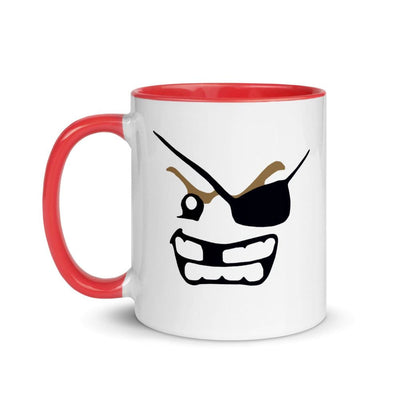 Brick Forces Pirate Face Mug with Color Inside - Printful Clothing