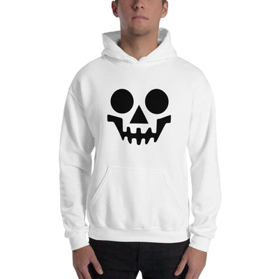 Brick Forces Skeleton Face Unisex Hoodie - White / S - Printful Clothing