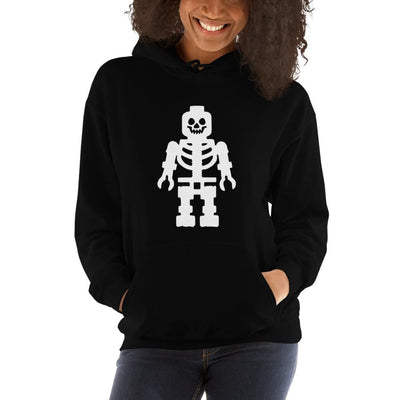 Brick Forces Skeleton Unisex Hoodie - Black / S - Printful Clothing