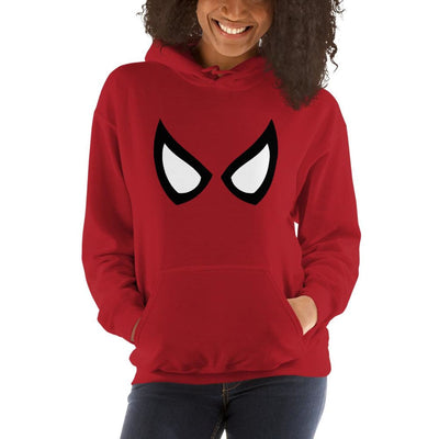 Brick Forces Spider Eyes Unisex Hoodie - Red / S - Printful Clothing
