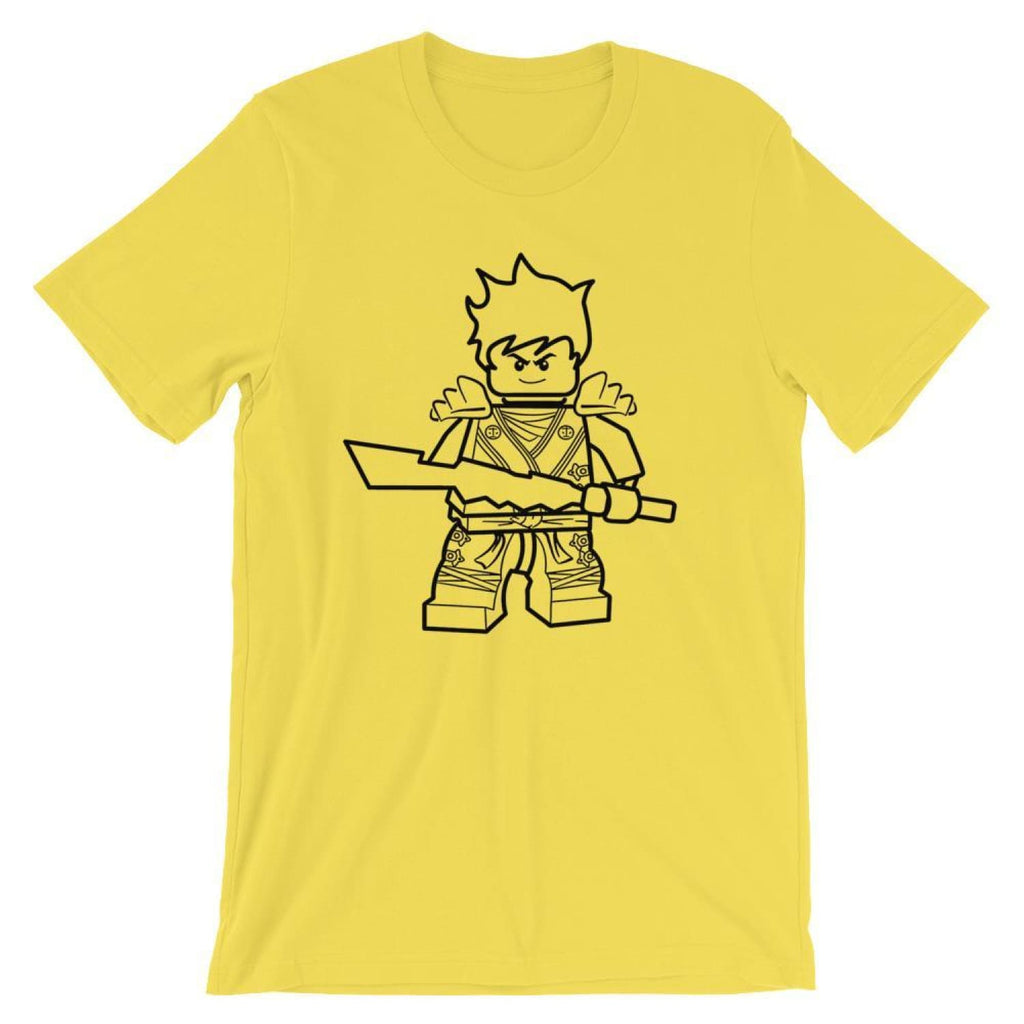 Brick Forces Warrior Short-Sleeve Unisex T-Shirt - Yellow / S