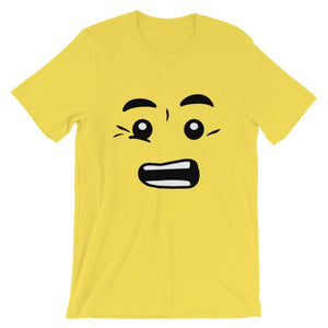 Brick Forces Worried Face Short-Sleeve Unisex T-Shirt - Yellow / S