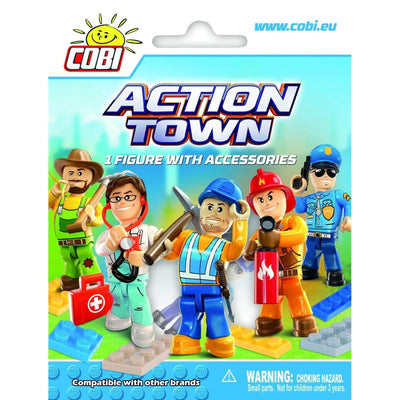 Cobi Action Town Minifig with Accessories (1852 Series)-Brick Forces