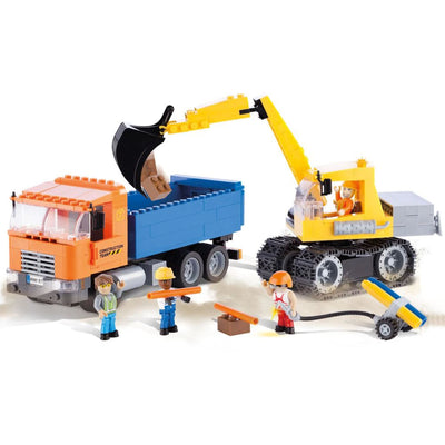 COBI Dump Truck & Excavator (400 Pieces) - Vehicles