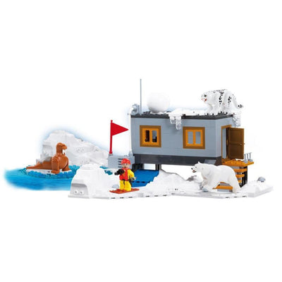 COBI Minifig Winter Base Set (300 Pieces) - Buildings