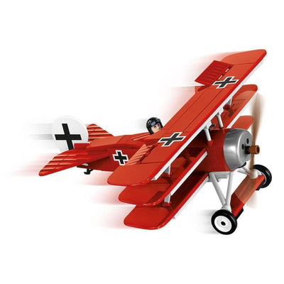 COBI World War I Fokker Dr.1 Red Baron Triplane (175 Pieces) - Airplanes