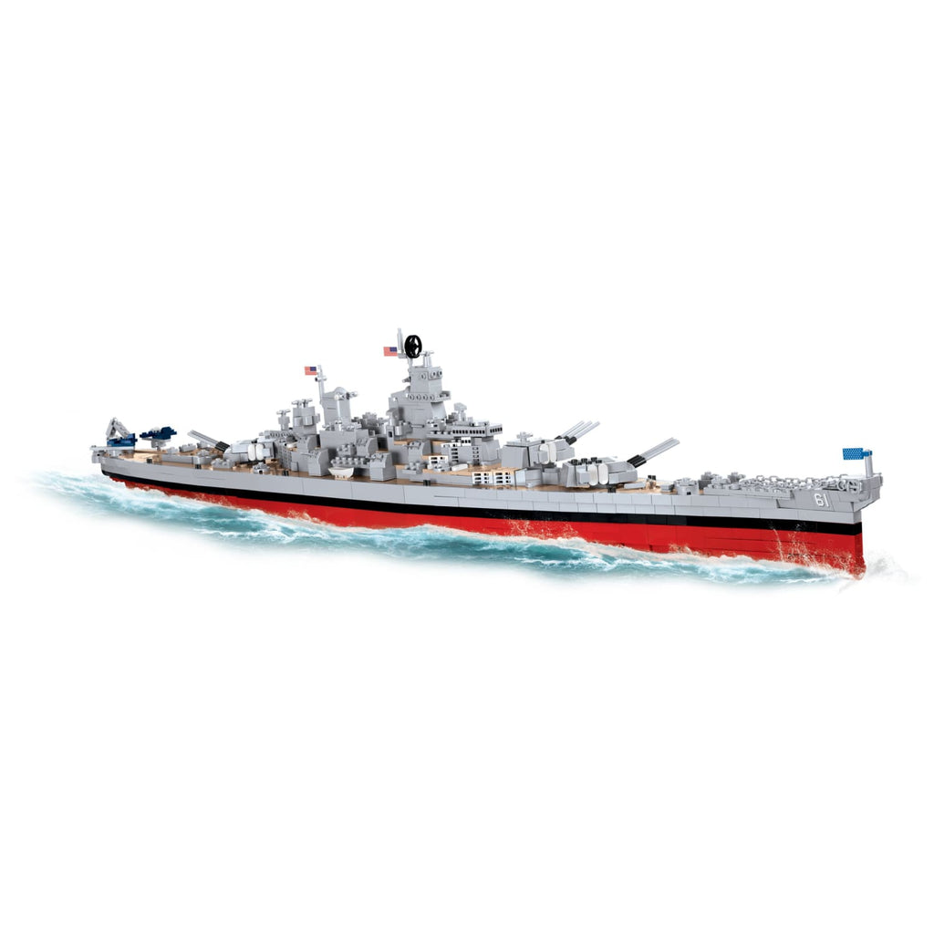 COBI World War II Battleship USS Iowa (BB-61) or USS Missouri (BB-63) (2410 Pieces) - Ships