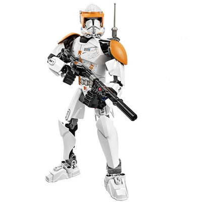 Brick Space Trooper Commander Cody Figure (82 Pieces) - Sets