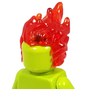 Minifig Red Flame Hair 1 - Hair