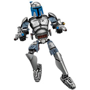 Brick Bounty Hunter Jango Figure (85 Pieces) - Buildable Figure