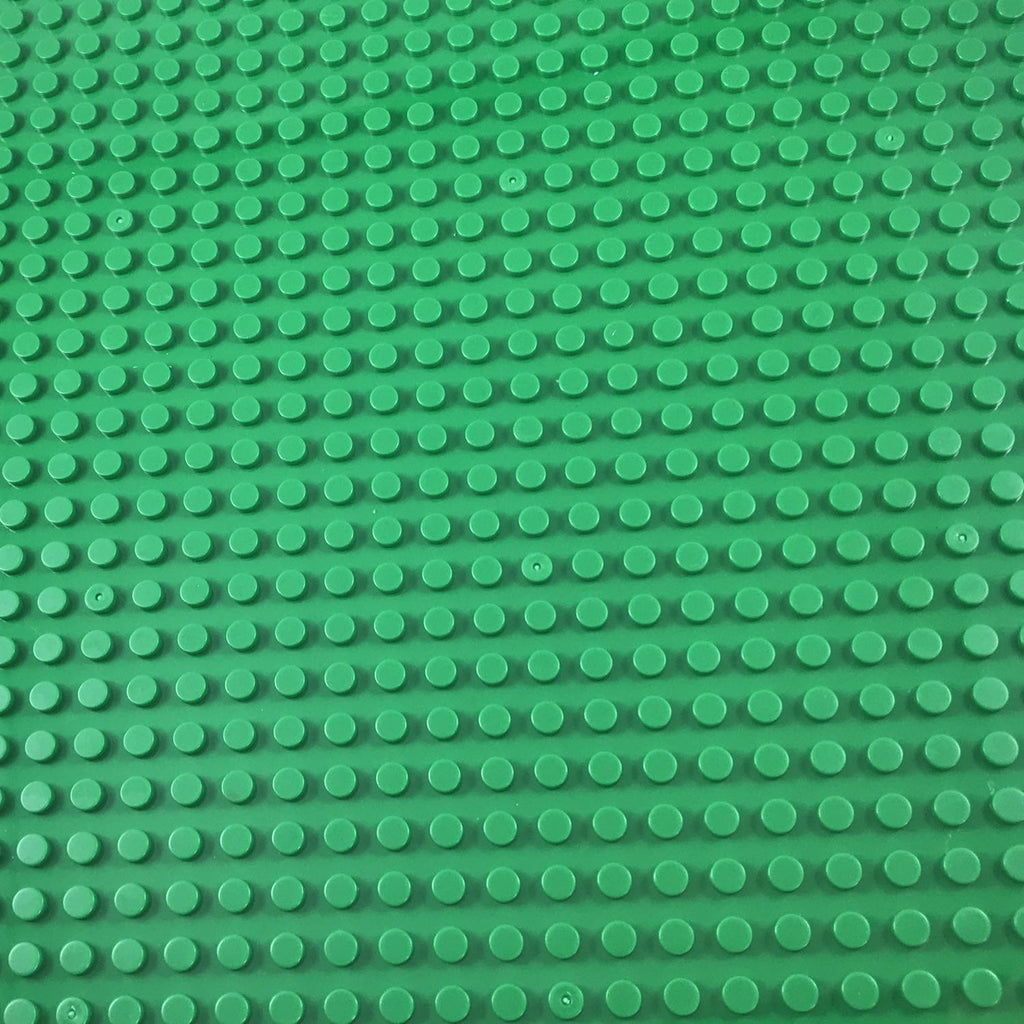 Minifig 16*16 Dots THICKER Building Block Baseplates - Green - Baseplate