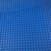 Minifig 16*16 Dots THICKER Building Block Baseplates - Blue - Baseplate