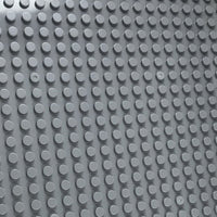 Minifig 16*16 Dots THICKER Building Block Baseplates - Dark Grey - Baseplate