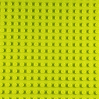 Minifig 16*32 Dots Building Block Baseplates - Lime Green - Baseplate