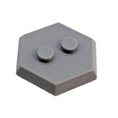 Minifig 2 Dot Hexagon Stand Gray - Stand