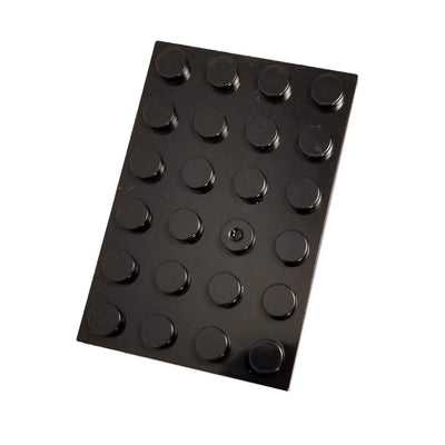 Minifig 4x6 Base Black - Baseplate