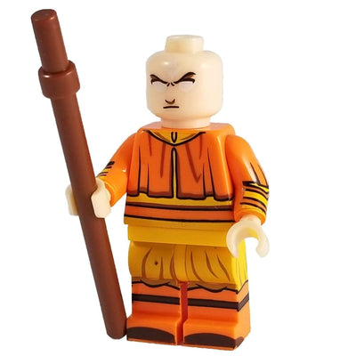 Minifig Aang with White Eyes - Minifigs