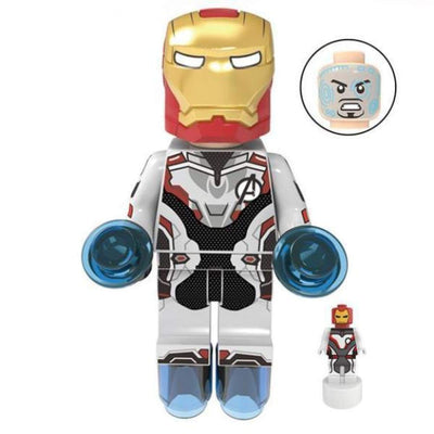 Minifig Armor Tony White Uniform - Minifigs