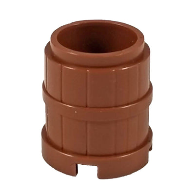 Minifig Barrel Brown Wooden - Dioramas