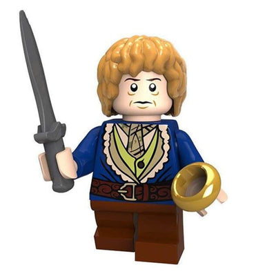 Minifig Bilbo with The Ring-Brick Forces
