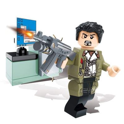 Minifig Biochemical Zombie Crisis Alan-Brick Forces