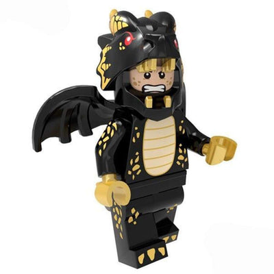 Minifig Black Dragon Suit Guy - Minifigs