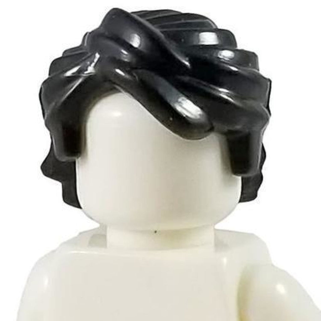 Minifig Black Hair 18 - Hair
