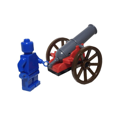Minifig Black Powder Wheeled Cannon - Artillery