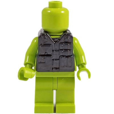 Minifig Black Tactical Vest 5 - Vests